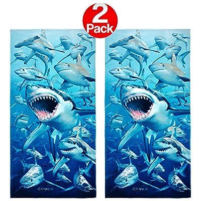 Kaufman - Hungry Sharks Beach Towel (106042) - 2 Pack Set