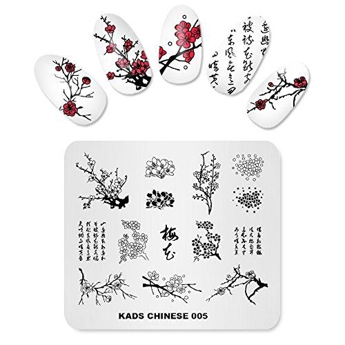 KADS Nail Stamping Platte Chinesische Art Nail art Stempel Vorlage DIY Bild Vorlage Maniküre Stamp Platte Schablone Werkzeuge (CN005)