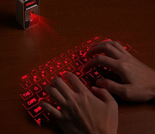 MOJO Bluetooth Wireless Laser Projection Virtual Keyboard Portable Full-Size Keypad