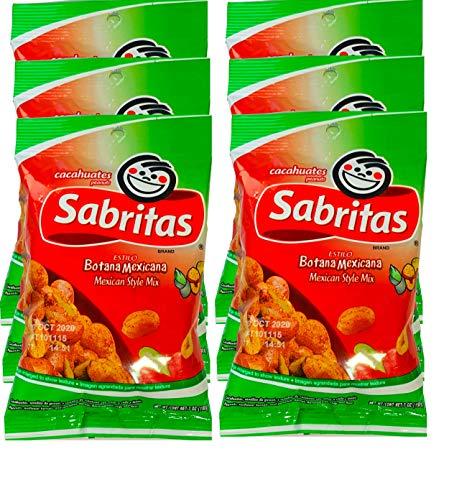 NEW Sabritas Japones & Botana Mexicana Delicious Snack Peanuts (Botana Mexicana, 6)