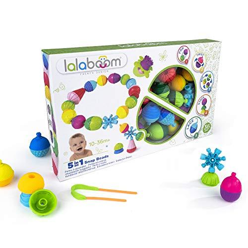 Lalaboom – Jouet d'éveil éducatif - Set de Perles et Accessoires à Assembler – Construction Formes et Couleurs - Evolutif de 10 mois à 4 ans, BL300, 36 pièces