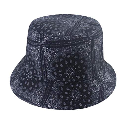 Bucket Hat Chapeau Hommes Noir Blanc Couleur Star Eye Graffiti Chapeau De Pêcheur Hommes Chapeaux De Seau Hip Hop E