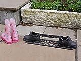 Best Value Here Rasqueta de hierro fundido para zapatos, accesorio de puerta de jardín, decoración vintage