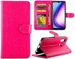 For Vivo Y19/U3/Y5s/U20 Crazy Horse Texture Leather Horizontal Flip Protective Case with Holder & Card Slots & Wallet & Photo Frame New (Black) Wangyyy (Color : Magenta)