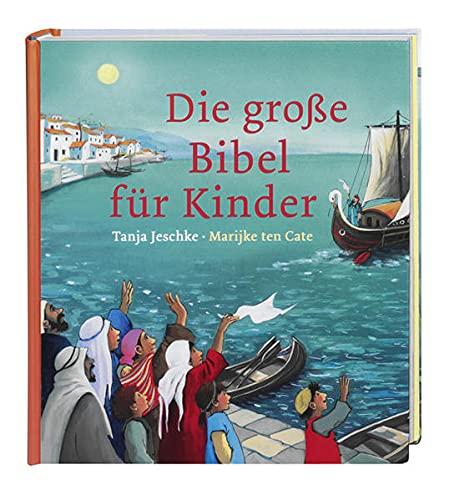 Die große Bibel für Kinder. Von der Schöpfungsgeschichte bis zum Pfingstwunder: 32 Bibelgeschichten mit doppelseitigen Bildern & leicht verständlichen Texten zum Vorlesen für Kinder ab 4 Jahren