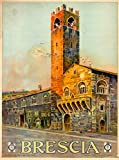 A SLICE IN TIME Brescia Italy Vintage Italian Travel Advertisement Art Poster Print. Measures 10 x 13.5 inches