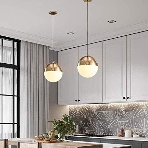 Lampadario Lámpara de techo LED Lámpara de techo colgante de época colgante Bola de cristal blanco de la lámpara pantalla 18 cm, A ~ 3lights Oro Chandelier E27 Plafón con