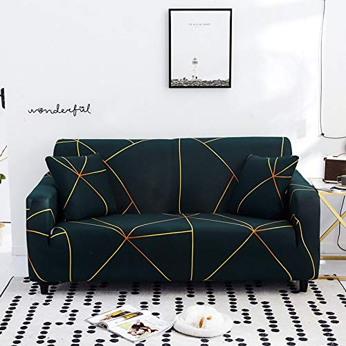 ASCV Fundas de sofá elásticas geométricas para Sala de Estar Fundas de sofá seccionales Modernas Fundas de sofá de Esquina Protector de Silla A6 1 Plaza