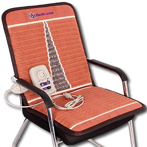 MediCrystal Infrarrojo lejano amatista Mat 50x100 cm - Hot Pad Piedra para Presidente - machacados 100% de cristales naturales estera de la silla 50x100 cm