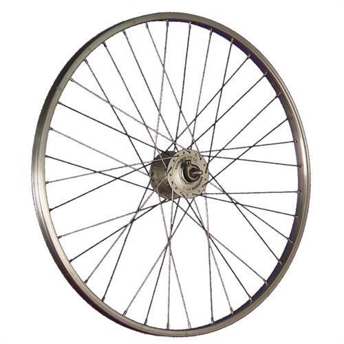Taylor-Wheels 26 Pouces Roue Avant vélo moyeu Dynamo vélo hollandais Argent