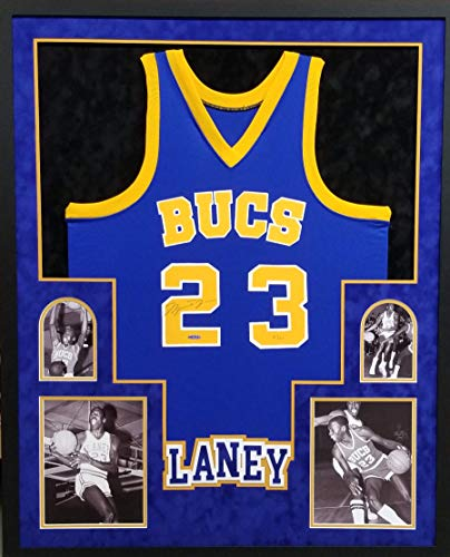 Michael Jordan Laney High School Signed Autograph Rare Custom FRAMED Jersey HAND NUMBERED Suede Matted Upper Deck Certified