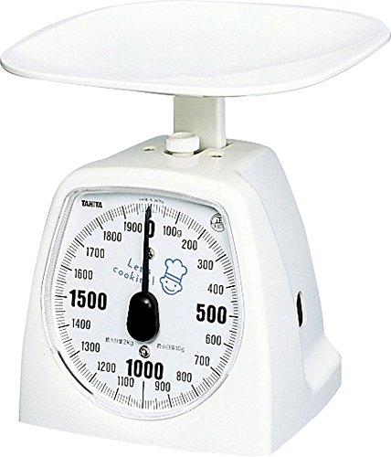 タニタ キッチンスケール はかり 料理? アナログ 2kg 10g単位 ホワイト 1437-NWH