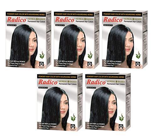 Radico Black Herbal Hair Color (Ammonia Free) (5 in 1)