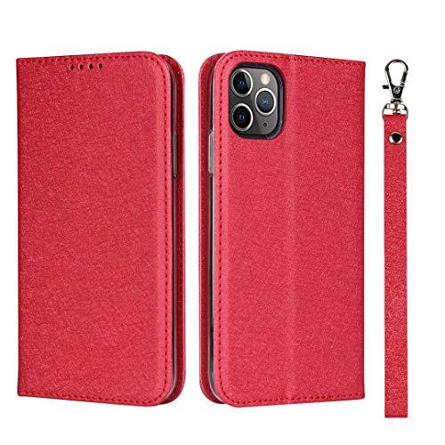 GIMTON iPhone 11 Pro Hülle, Brieftasche Hülle mit Klapp Ständer und Magnet Verschluss für iPhone 11 Pro, Stoßfest Kratzfestes PU Leder Schutzhülle, Rot