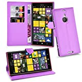 Cadorabo Hülle für Nokia Lumia 1520 Hülle in Mangan Violett Handyhülle mit Kartenfach & Standfunktion Hülle Cover Schutzhülle Etui Tasche Book Klapp Style Mangan-Violett
