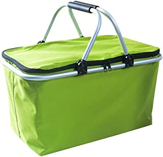 Yardwe Insulated Large Lunch Bag for Picnic Camping (Green)