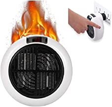 WZH 900W Calentador eléctrico Mini Ventilador Calentadores Escritorio Hogar Tomacorriente de Pared Práctico PTC Cerámica 3 Segundos Calefacción Estufa Radiador (Blanco)