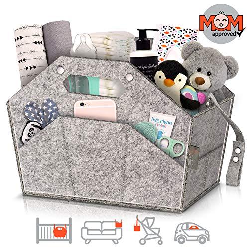 Cactush Baby Diaper Caddy Organizer for Nursery   Crib   Stroller   Car Travel