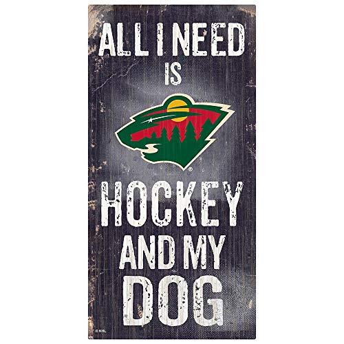 Fan Creations NHL Minnesota Wild Unisex Minnesota Wild Hockey und My Dog Schild, Team-Farbe, 15,2 x 30,5 cm