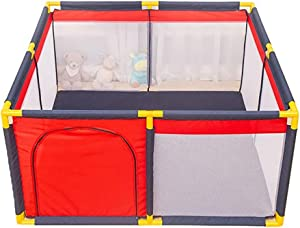 Hxmwl Playpens Children s Fence Baby Play Fence Breathable Net Child Safety Fence  Portable Playground Suitable for Baby Toddler Newborn Baby Safe Crawl