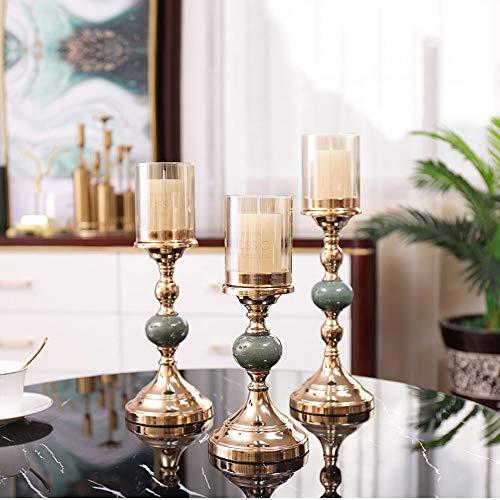 WZNING Amerikaanse Romantische westerse diner bij kaarslicht kaarshouder Decoration European Light Luxury Living Room huiseettafel Decoration Gouden Kandelaar te sturen Kaarsen