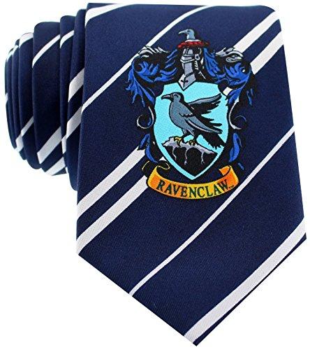 Cinereplicas - Harry Potter - Unisex Krawatte – Genaue Nachbildung - Offiziel lizensiert- Ravenclaw - Einheitsgröße – 100 % Mikrofaser – Blau und Grau