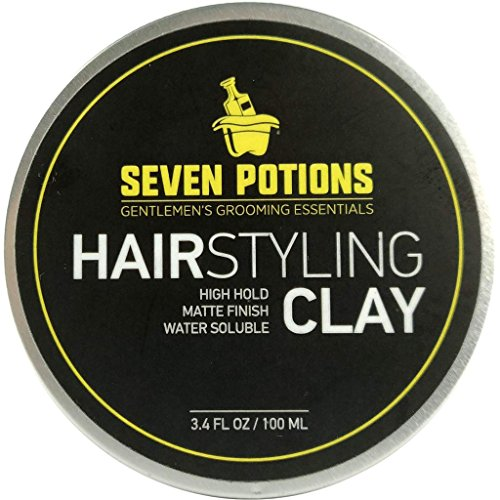 Hair Styling Clay For Men 3.4 fl oz - Matte Finish - High Hold - Water Based - Natural,...