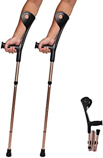 AILSAYA Crutch Folding Elbow, Aluminum Alloy, Four Folds, Elbow, Forearm Crutch Elbow Crutches Foldable Ultralight Aluminum Assistance Hight Adjustable(100-110) cm with Comfy Handle