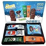 Moo Free Merry Moos Selection Box - 4 Riegel Bio, laktosefrei, vegan