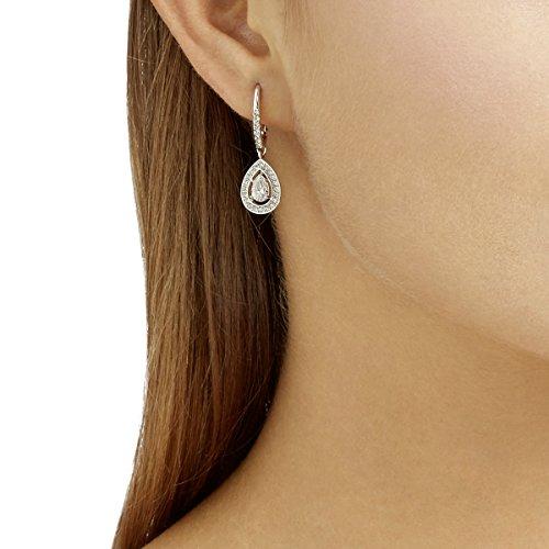 Swarovski Orecchini Attract Light Pear, bianco, placcatura rodio