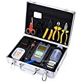 FTTH Fiber Optic Assembly Cables Termination Tool Kits 23 in 1 Cold Connection Tool with t...