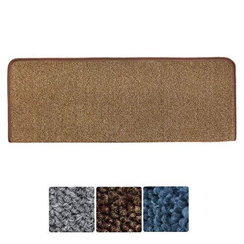 4.5cm Color : Beige*15 Marchettes descalier,15pcs Step Carpet Non Slip Adhesive Rug//Mat for Stair Tread,Multiple Colours,Durable Non-Slip Protection,55 22