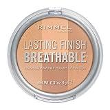 Rimmel LONDON Lasting Finish Breathable Finishing Powder, 002 Dawn, 0.28 Ounce