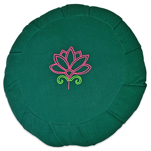 YogaAccessories Round Cotton Zafu Meditation Cushion
