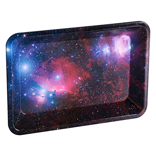 Metal Rolling Tray Essential Trays Cigarette Tray Smoking Accessories (7.08'x4.92')