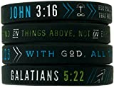 Inkstone Christian Silicone Wristbands w/Scriptures...
