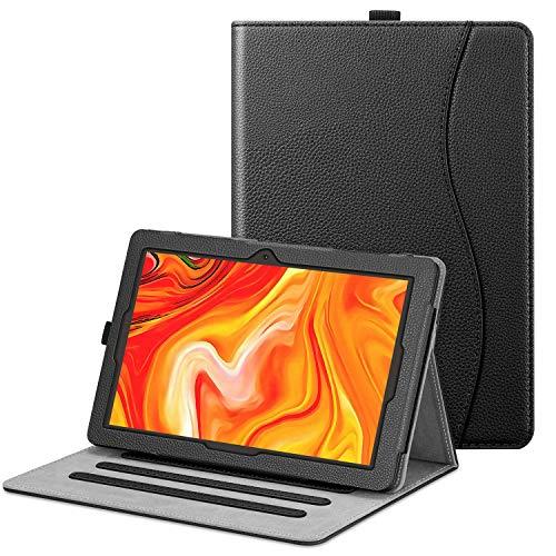 FINTIE Funda para Vankyo Z4 Tablet 10.1 Pulgadas - [Protección de Esquina] Carcasa de Ángulos Múltiples con Bolsillo Función de Soporte, Negro
