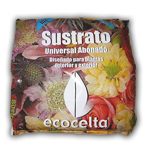 Ecocelta Sustrato ecológico 10 l, Negro, ZA31
