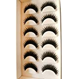 Laimeng,New 5 Pairs Long Thick Soft Handmade Fake False Eye Lash Makeup Extensions