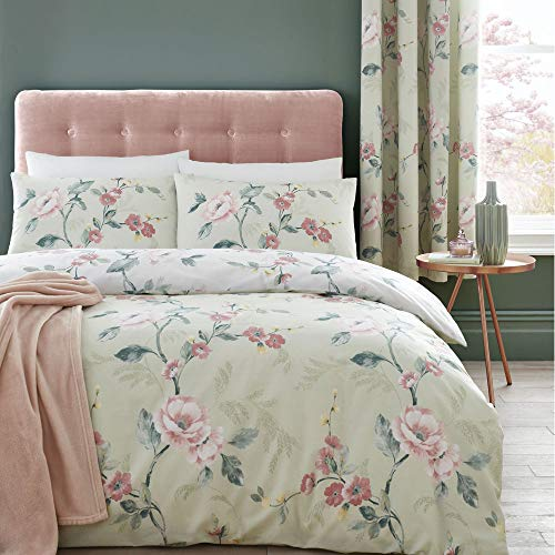 Catherine Lansfield Floral Trail Easy Care , Single Duvet Set, Green