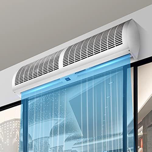 YOON Cortina de Aire Comercial de Alta Potencia, tecnología Anti-Polvo/disipación de Calor/bajo Ruido, Volumen de Aire Ajustable de 2 velocidades, operación Conveniente y fácil de Usar
