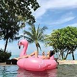 Bouée Inflatable Flamingo, PVC Gonflable Flamingo Flotteur de Piscine Géante pour Piscine Adulte Enfant (Rose 190x190x120cm)