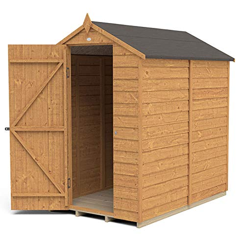 Forest Garden Overlap Dip Treated 6x4 Apex Shed - No Window