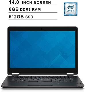 2019 Premium Dell Latitude E7470 Ultrabook 14 Inch Business Laptop (Intel Dual Core i5-6300U up to 3.0GHz, 8GB DDR4 RAM, 512GB SSD, Intel HD 520, WiFi, HDMI, Windows 10 Pro) (Renewed)