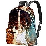 Staroutah sac à dos sac à dos sac à dos sac d'école randonnée sac à dos Haute capacité et mignon en plein air Apprendre guitare électrique pour femme et homme