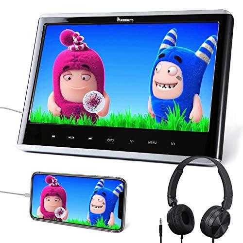 """12"""" Reproductor de DVD para Coche con Entrada HDMI, DVD para Reposacabezas con Auriculares, soporta USB/SD, DVD/CD región Libre - NAVISKAUTO"""