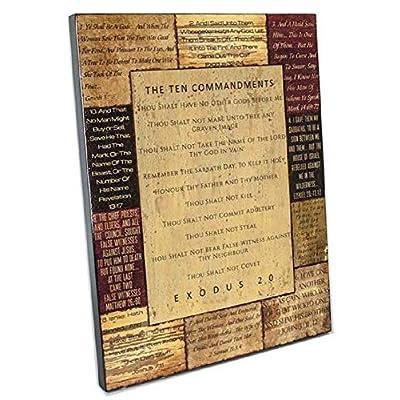 the ten commandments wall decor