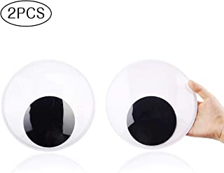 DIYASY 7.5 Inches Giant Googly Eyes, 2 Pieces Large Wiggle Eyes Self Adhesive for Decorations