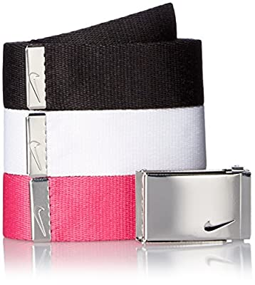 Nike Women's 3-in-1 Web Pack Belt, Black/White/Vivid Pink, One Size