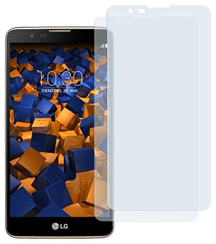 mumbi Schutzfolie kompatibel mit LG Stylus 2/2 Plus Folie klar, Bildschirmschutzfolie (2X)